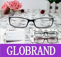 Wholesale GLXY27 Good Quality Men Women Reading Glasses Plastic Frame Myopia From to And Hyperopia Transparent Black Red Spring Hinge