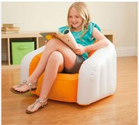 Wholesale Cute Candy Children Sofa Chair Soft Comfortable Kids inflatable Sofa Seat Baby Gift Home Decoration Furniture