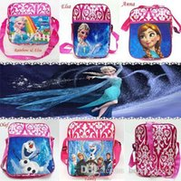 animal families video - The Frozen Soft Toy baby girl cartoon Elsa Anna Olaf Family schoolbag children travel backpack shoulder bag MYF07