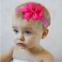 Children's Hair Accessories Mix Color Headbands Baby Hair Bows Baby Elastic Headbands Children Hair Accessories Kids Hair Flowers Girls Bowknot Head bands Kids Hairband Fashion