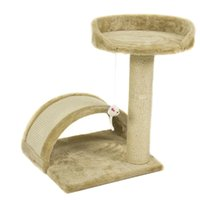 Wholesale Cat Tree Post Scratcher Furniture Play House Pet Bed Kitten Toy Beige New