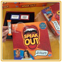 Wholesale IN STOCK Speak Out Game Spiel Mouthpiece Game Christmas Toy Mouth Guard Game speak out mouthpieces
