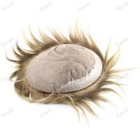 Wholesale queen wigs Size quot x quot Men Hair Man Toupee Color Swiss Lace Bottom Net pc Hair System