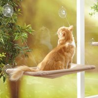 achat en gros de animal ours brun-HOT Lovely Waterloo Monté sur la fenêtre Hammock Pet Bed pour Chat Puppy Sunny Repoussoir Cushion Perch 15KG Poids Poids Multiple Cats-Brown