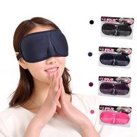 Wholesale 3D Travel Eye Mask Eyeshade Travel Blackout Eye Shield Sleeping Eye Patch Color Eye Mask with OPP Bag Packing