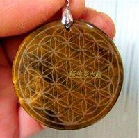 balance tiger - Natural tiger eye stone crystal circle flower pendant balancing wheel mm