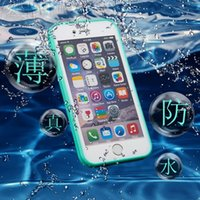 Wholesale The new waterproof mobile phone shell Apple iphone s plus whole package really slim tpu waterproof phone sets factory Spot