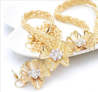 Wholesale New Coming Golden Belts Flowers Crystal Waist Belt For Women Party Evening and Daily Fashion