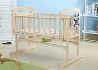 Wholesale Intelligent electric baby bed wood paint without environmental protection multifunctional BB bed bed cradle baby crib