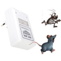 Wholesale New V White Pest Repeller ULF Ultrasonic Waves Electronic Repeller Control Aid for Ants Insect Spiders Roaches Mice Repelling