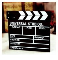 Wholesale zakka grocery wooden movie slate clapboard shot assist background props decoration home daily