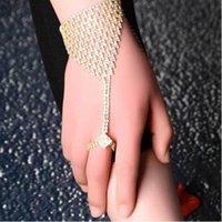 Wholesale Wedding Bracelets Jewelry Fashion Women High Quality Full Rhinestone Gold Silver Plated Alloy Bracelets BR442