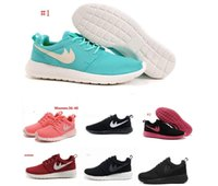 barefoot white - 2016 women Roshe run running shoes London Olympic Rosherun lightweight breathable Barefoot Walking training sports shoes sneakers