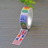 Wholesale New x National Flags DIY Japanese Washi Tape Scrapbooking Tools Papeleria Decorative Masking Tape Office Adhesive Tape M