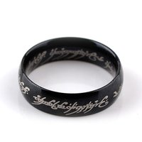 Wholesale Mens movie jewelry lord of the rings Vintage Fans Gift Hobbit The one ring rune rings Dia Meter cm