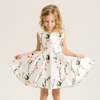 balloon style dresses - Girls Clothing Printed Floral Creative Balloons Dress For Girls Kids Party Fashion Clothes Toddler Infantil Vestidos