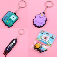 Wholesale adventure time keychain styles in stock finn and jake d rubber keychain pendants with tag quot cm