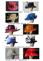 Kentucky Derby Hats church hats - Large Brim Sinamay Hat for Kentucky Derby wedding races party church formal hat BY EMS