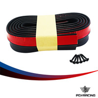 Wholesale PQY RACING M ROLL Car Front Bumper Lip Splitter Protector Body Spoiler Valance Chin Rubber with SAMUR box PQY FBL51