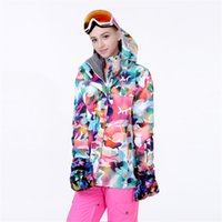 Wholesale The newest GS brand women s ski jacket women this jacket waterproof windproof thermal and breathable suitable ski in winter
