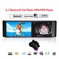 achat en gros de tft portable-4.1 '' pouces Car Radio Bluetooth Car MP5 TFT HD écran USB Support SD Volant à distance arrière Control View Caméra 4012B