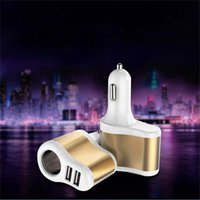 Wholesale 2 USB Car Charger with Cigarette Lighter Interface V A Universal Car Charger for Samsung s6 s6edge plus for iPhone S