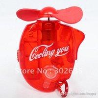 Wholesale Mini Handheld water spray fan Battery fan size CM qqzq