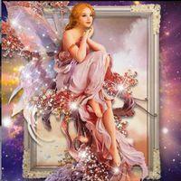 angels paints - Beautiful angel unfinished cross stitch kit diamond painting New diy d mosaic circular diamond embroidery crafts Needlework