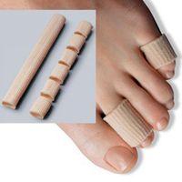 Wholesale 15cm Fabric Gel Tube Cushion Corns and Calluses Toe Protector Hallux Valgus Orthopedics Bunion Guard for Feet Care insoles