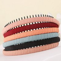 bands for teeth - 2016 New PC Fashion Multicolor Colors Headband With Teeth Practical Cloth Hair Band Hair Jewelry for Girls Hair Accessories Headwear TS