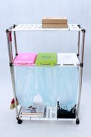 Wholesale simple life recycle garbage stand garbage frame trolley For household for hospitals