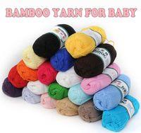 Wholesale Baby Bamboo Yarn g Soft Smooth Natural Bamboo Cotton Crochet Yarn Hand Knitting High Tenacity Baby Yarn Knitted Wool Thread