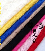 Wholesale 2016 Roses Stretch Lace Mesh Gauze Dress Shirt Material Colors Baby Shawl Scarf Skirt Fabric HY1180