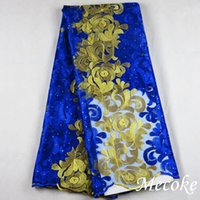 Wholesale Embroidery designs high quality african cord lace red french lace fabric of voile guipure lace fabric Diamond nigerian mesh lace