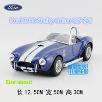 Wholesale KINSMART Diecast Models Scale Ford Shelby Cobra S C toy for children s gifts or collection pull back educational limited
