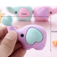 animal erasers for kids - 5pcs Cute Animals Elephant Eraser Rubber Eraser For Kids School Supplies Stationery Table Decoration