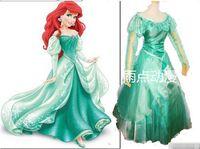 al por mayor vestido azul ariel-vestido azul del envío libre traje de princesa Ariel la camada sirena Ariel traje de hadas de cuento de cosplay