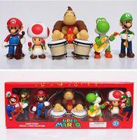 band mario - Super Mario Playing Team Band Collection Toys Mario Luigi Donkey Kong Toad Yoshi PVC Figure Toys With Box