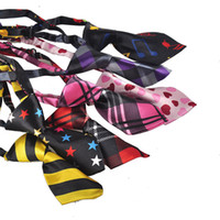 Wholesale Fashion Polyester Silk Pet Dog Necktie Adjustable Handsome Bow Tie Necktie Grooming Supplies kids boy tie many color style