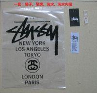 t-shirt bags - Stussy Plastic Bag StussyTag Stussy label Stussy washing mark set Stussy T Shirt Marks sets