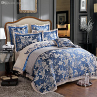 Wholesale PC luxury silk satin sheets Chinese Traditional wedding decoration gift silk bedding sets queen king size quilt cover set