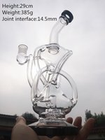 art in glass - BONG HourGlass bong Recycler water pipe High quality Oil Rigs Hybrid Two function Hand make glass art built in claim catchers GLASS XL012