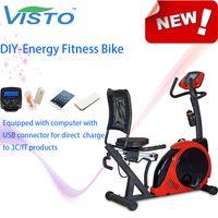 Wholesale DIY Energy Fitness Bike Fitness Recumbent Exercise Bike