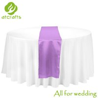 Wholesale Top sale wedding satin table runner pieces per cm