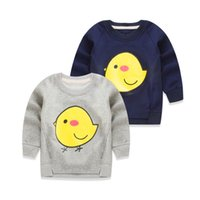 baby shirt ch - Spring baby children s clothing boy girl chicken long sleeved T shirt fleece render spring clothing T shirt unlined upper garment of ch