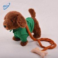 Wholesale 2016 new arrival Dog Singing Dancing Walking Musical Tactic dog Electronic pet Dog Toys For Children leash dog kids best gift845