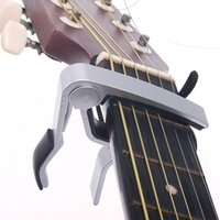 Wholesale High Quality Guitar Capo Quick Change Clamp Key Capo for Electric Guitar Guitarra Parts Accessories Sliver Black optional
