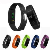 activity tracker - Hot Sports Smart Monitor Wristband Cicret Bracelet Activity Fitness Tracker ID107 Smartband Heart Rate Silicone Pedometer Fit band