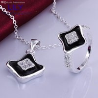 b jewellery - S725 B Christmas Gifts Fashion Jewelry Sets Sterling Silver Necklace Rings Jewellery Set Valentine s Gift