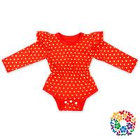 al por mayor puente de oro-Niños recién nacidos Niñas Baby onesies Camisetas de manga larga Camisetas de algodón para bebés Ropa para bebés Golden Dot Jumpsuits Bodysuit Rompers Ropa